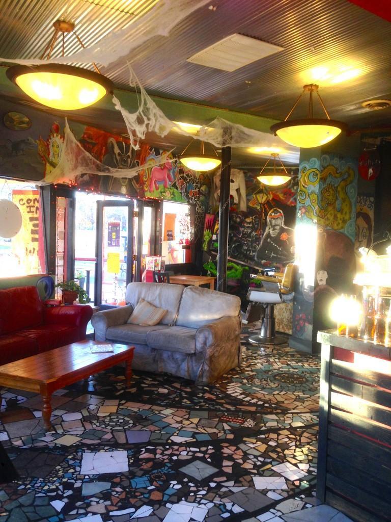 The interior of Lyric Cinema Cafe