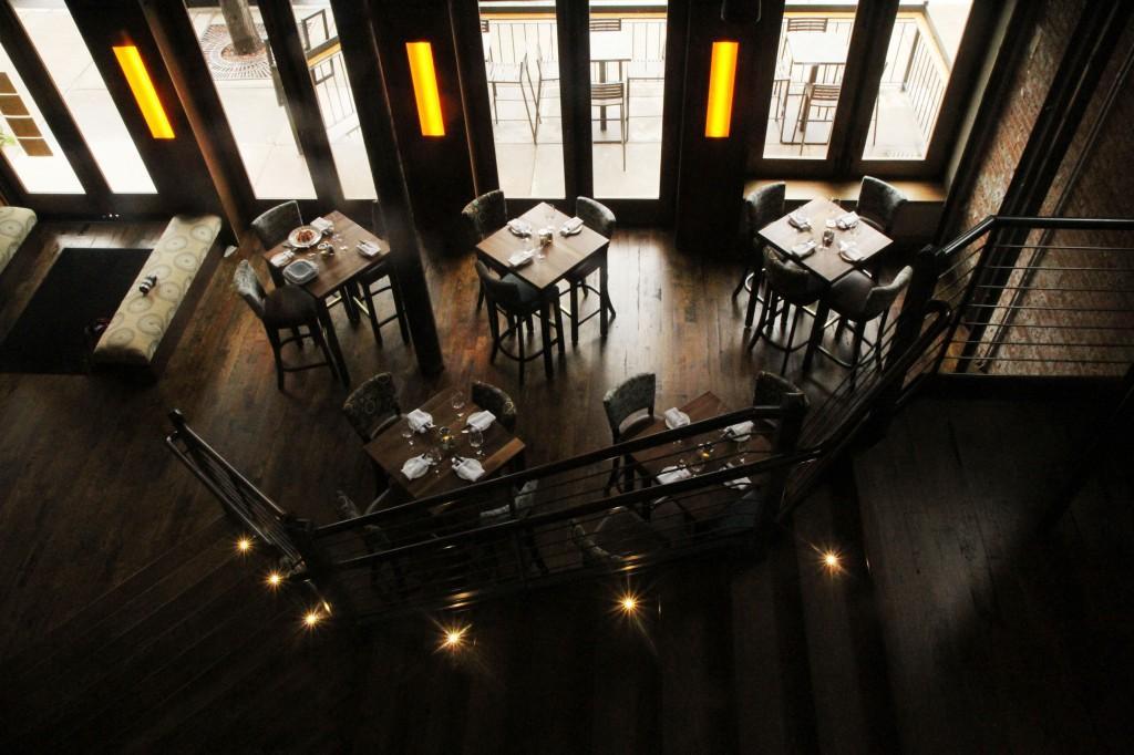 bird's eye view of Mainline restaurant interior