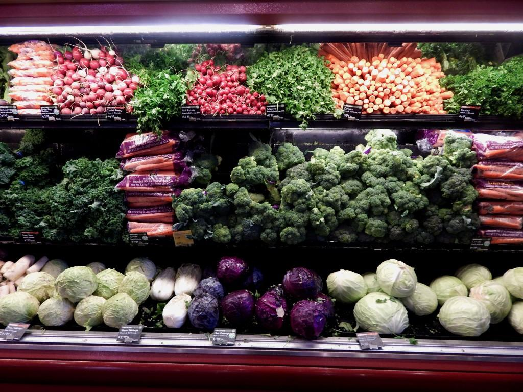 veggies at the supermarket