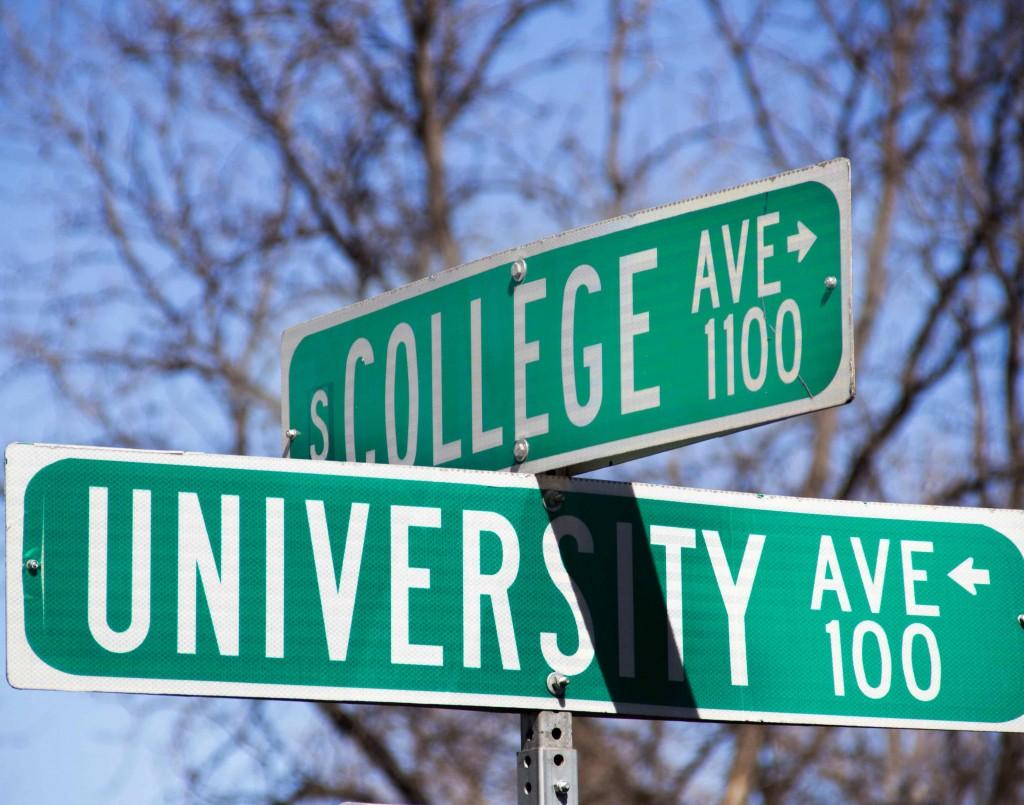 College Avenue street sign.