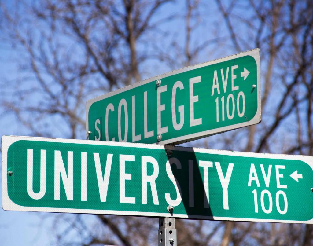 College Avenue street sign.