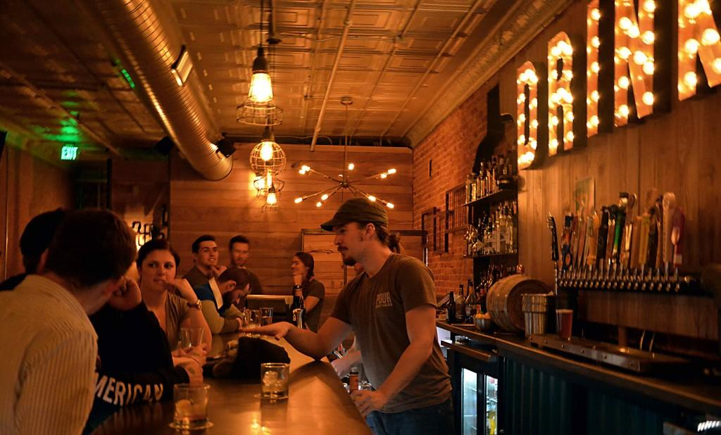 The bar at Pour Brothers