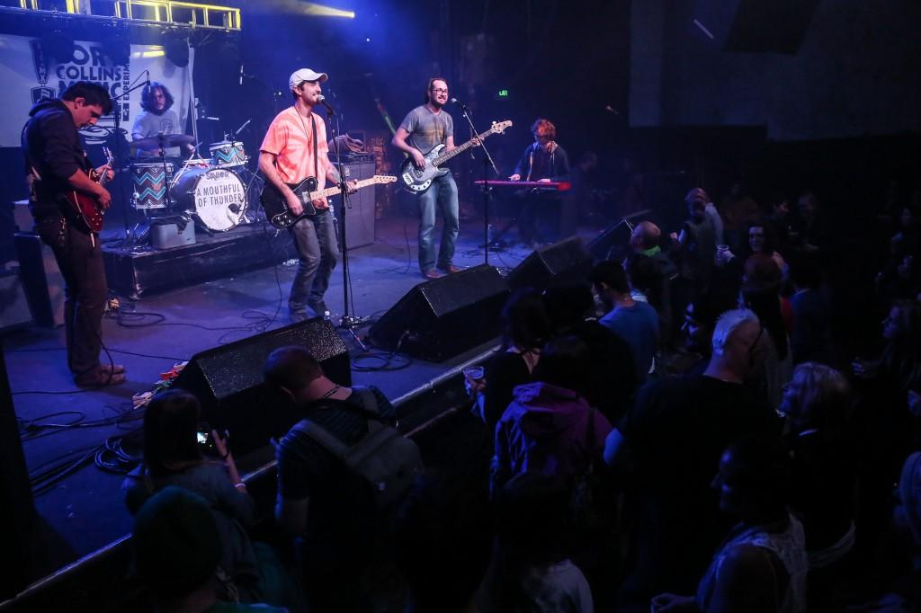 A Mouthful of Thunder performs their set at the Aggie Theatre on Friday night during the 5th annual Foco MX festival.