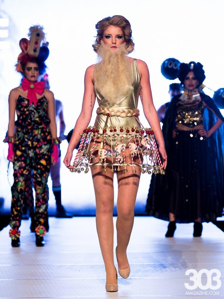 Model walking down the runway.