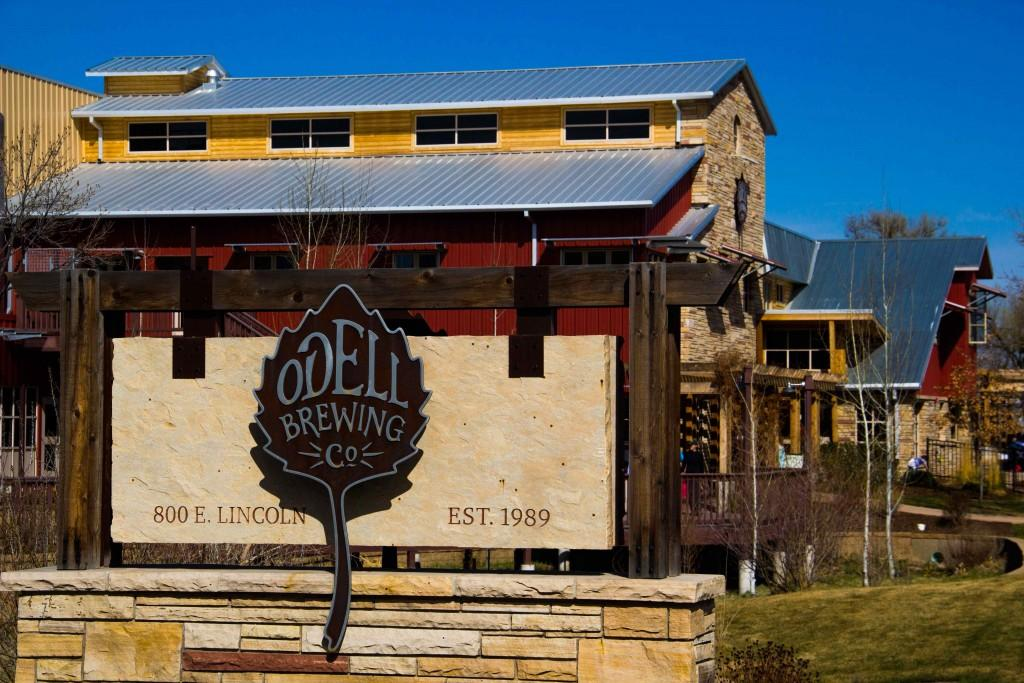 Odell sign in front of the brewery.