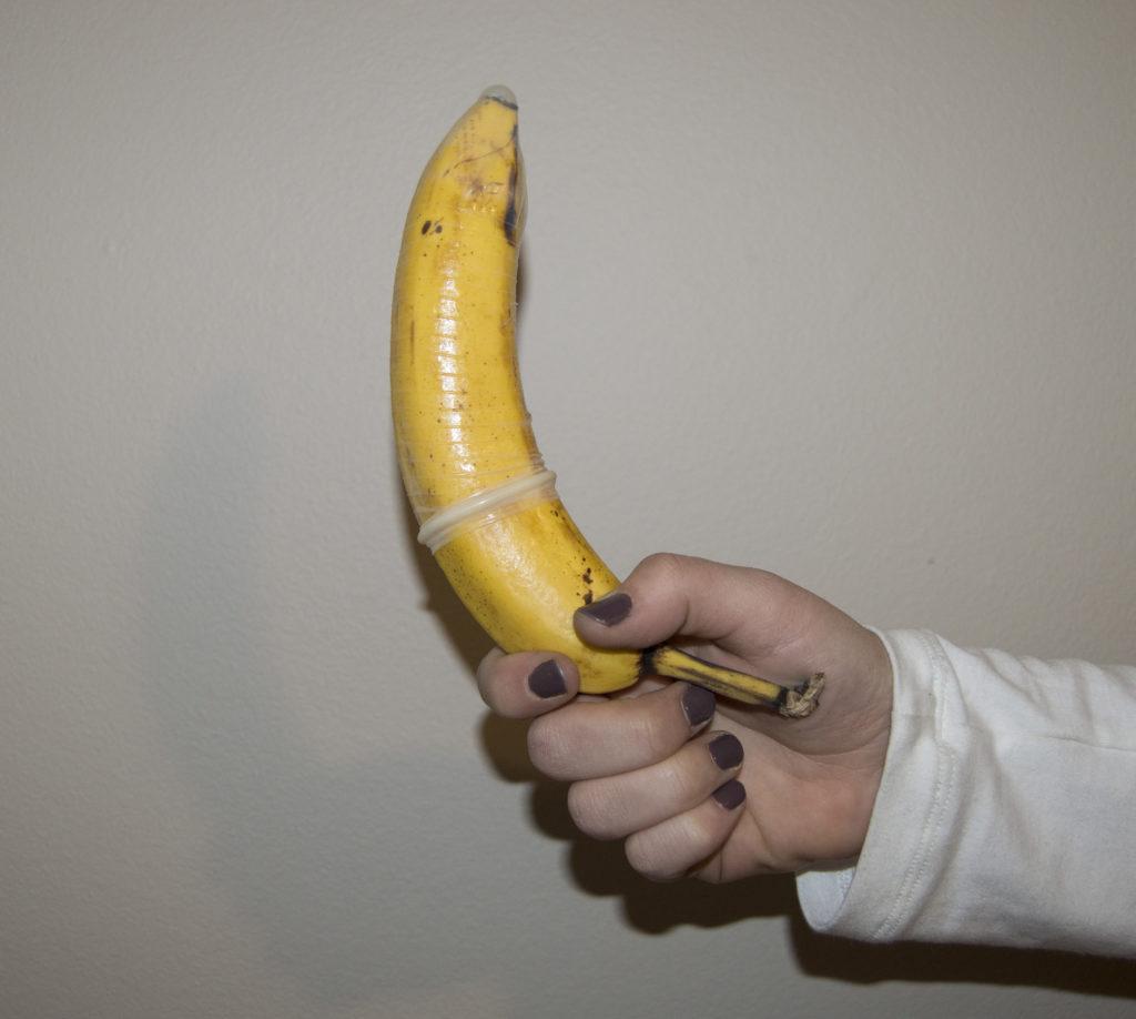 Condom on a banana.