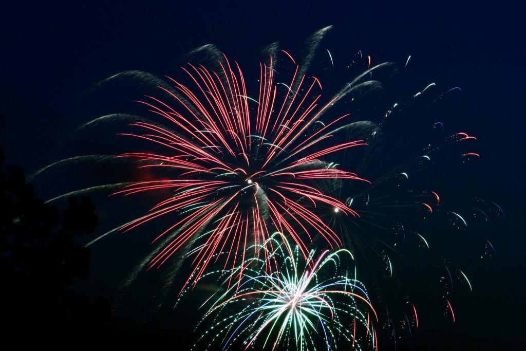 fireworks exploding in the sky