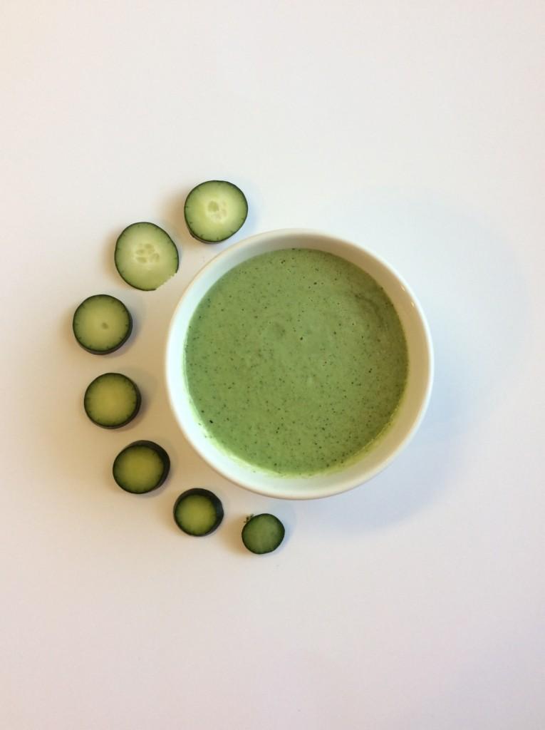 cucumber mask ingredient mixture