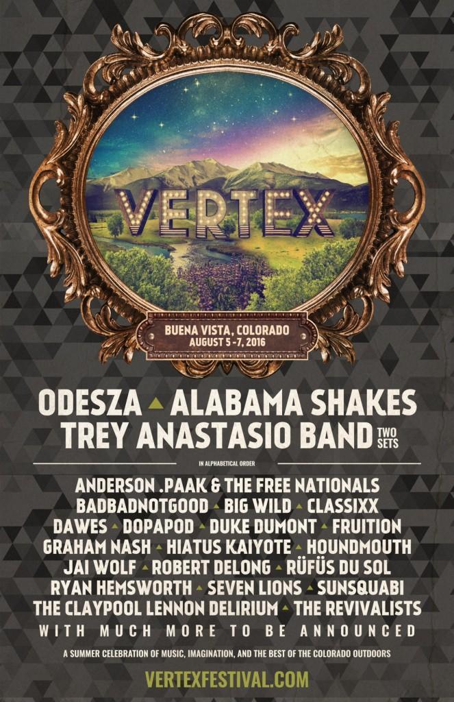 Vertex festival promotional poster
