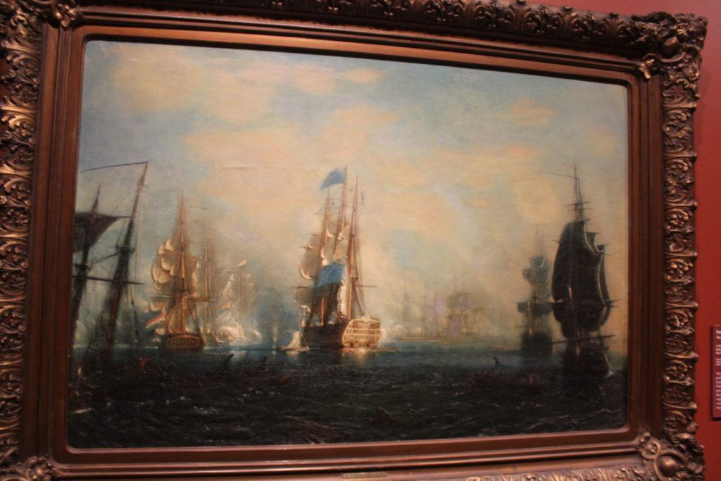 Oil Painting done by Petrus Paulus Schiedges depicting a Naval Battle.