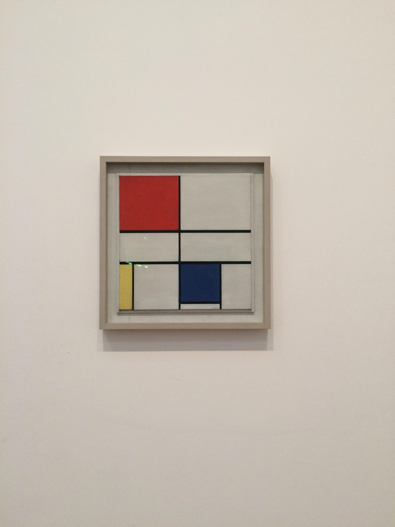 1935 Composition C (No.III) with red, yellow, and blue, by Piet Monrian, in the Tate Modern, London. Photo credit: Casey Martinez