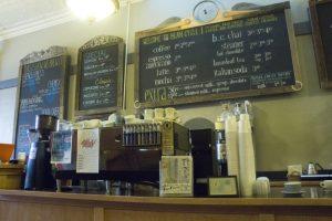 The Bean Cycle menu board