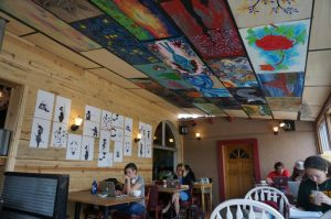 the Alley Cat Cafe interior