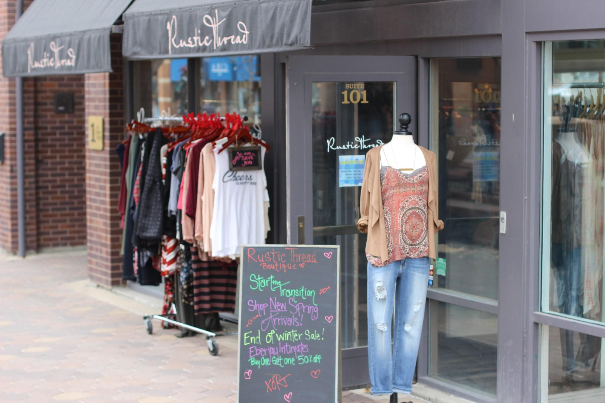 external of Rustic Threads clothing store
