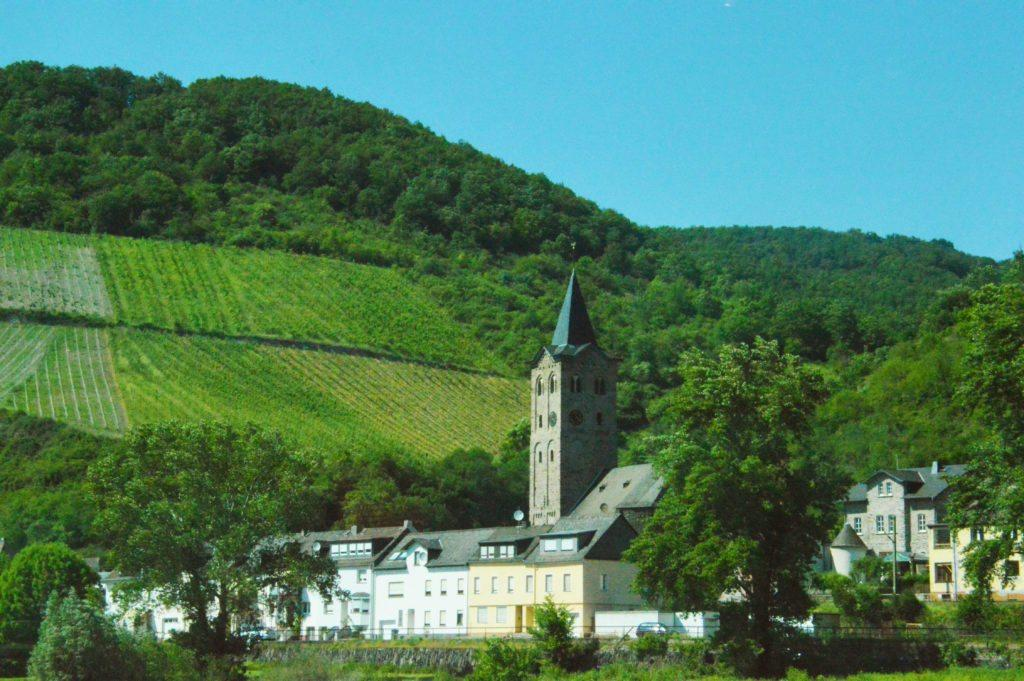 castle along the Rhine River
