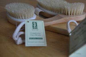 set of three dry brushes