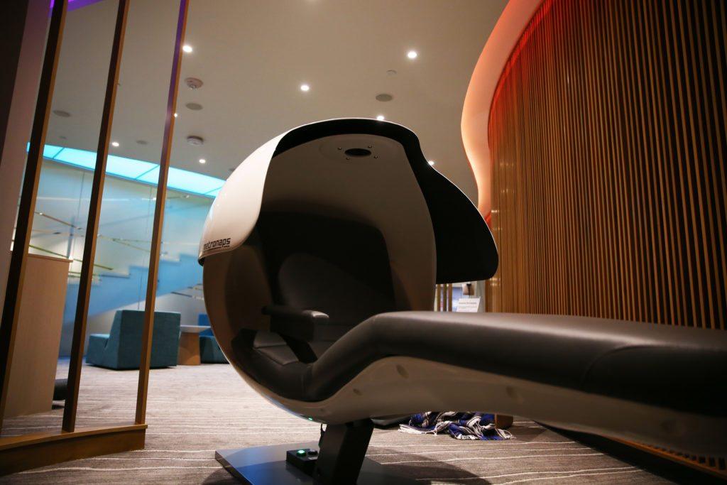 A Futuristic Nap Pod located in the new Health Center
