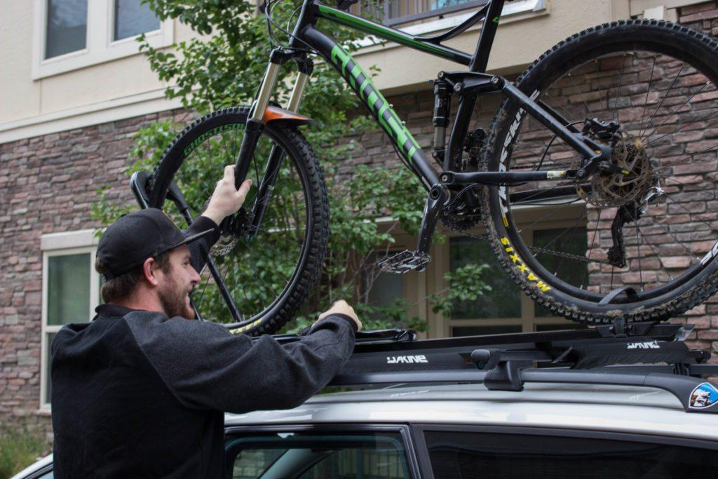 With his mountain bike ready to go on top of his car, Jimmy Yoder, CSU sophomore and avid mountain biker is ready to get out and ride. Photo credit: Jenna Van Lone