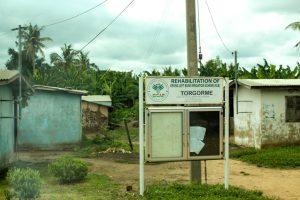Torgome Village sign