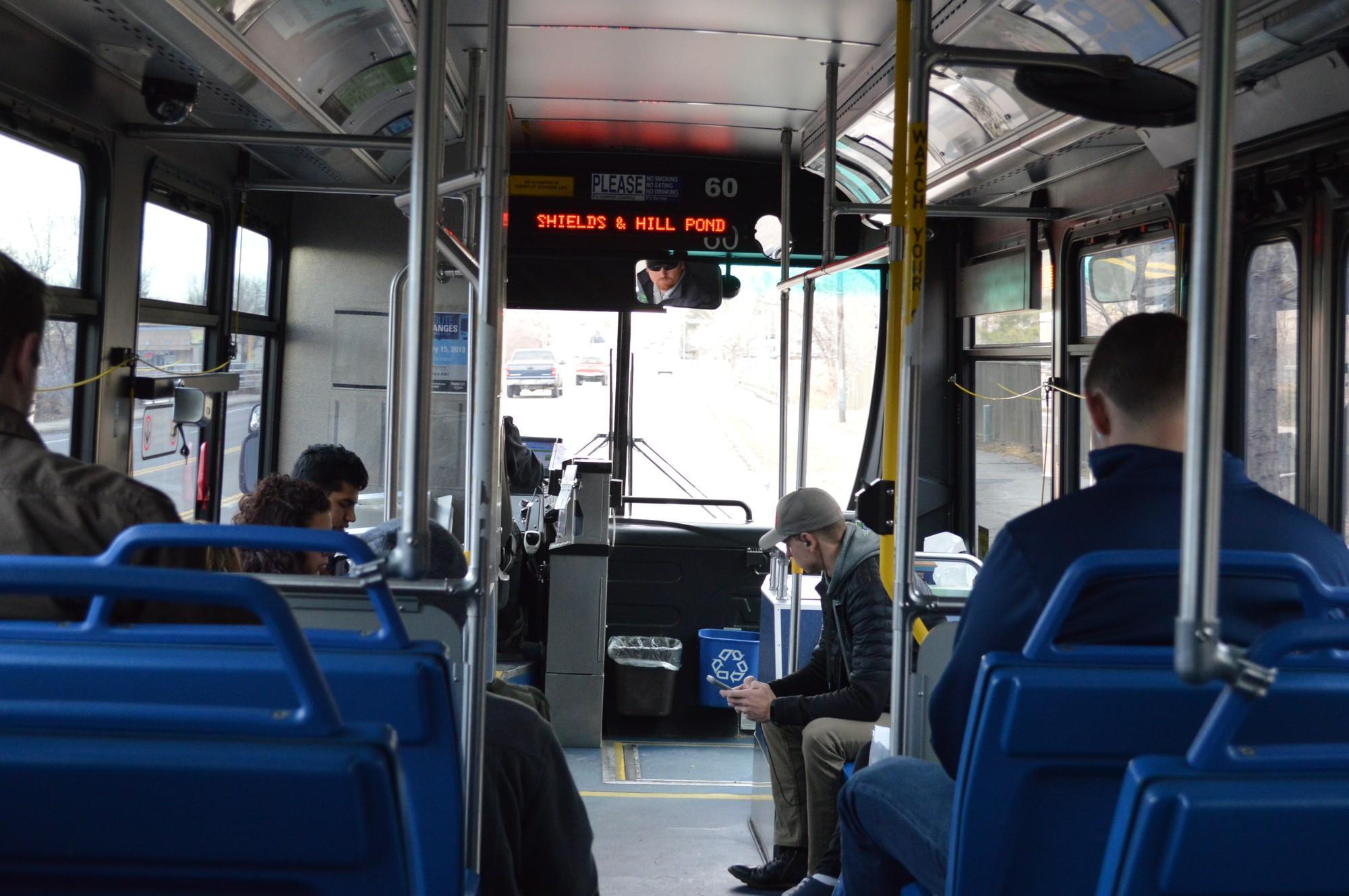 inside transfort bus