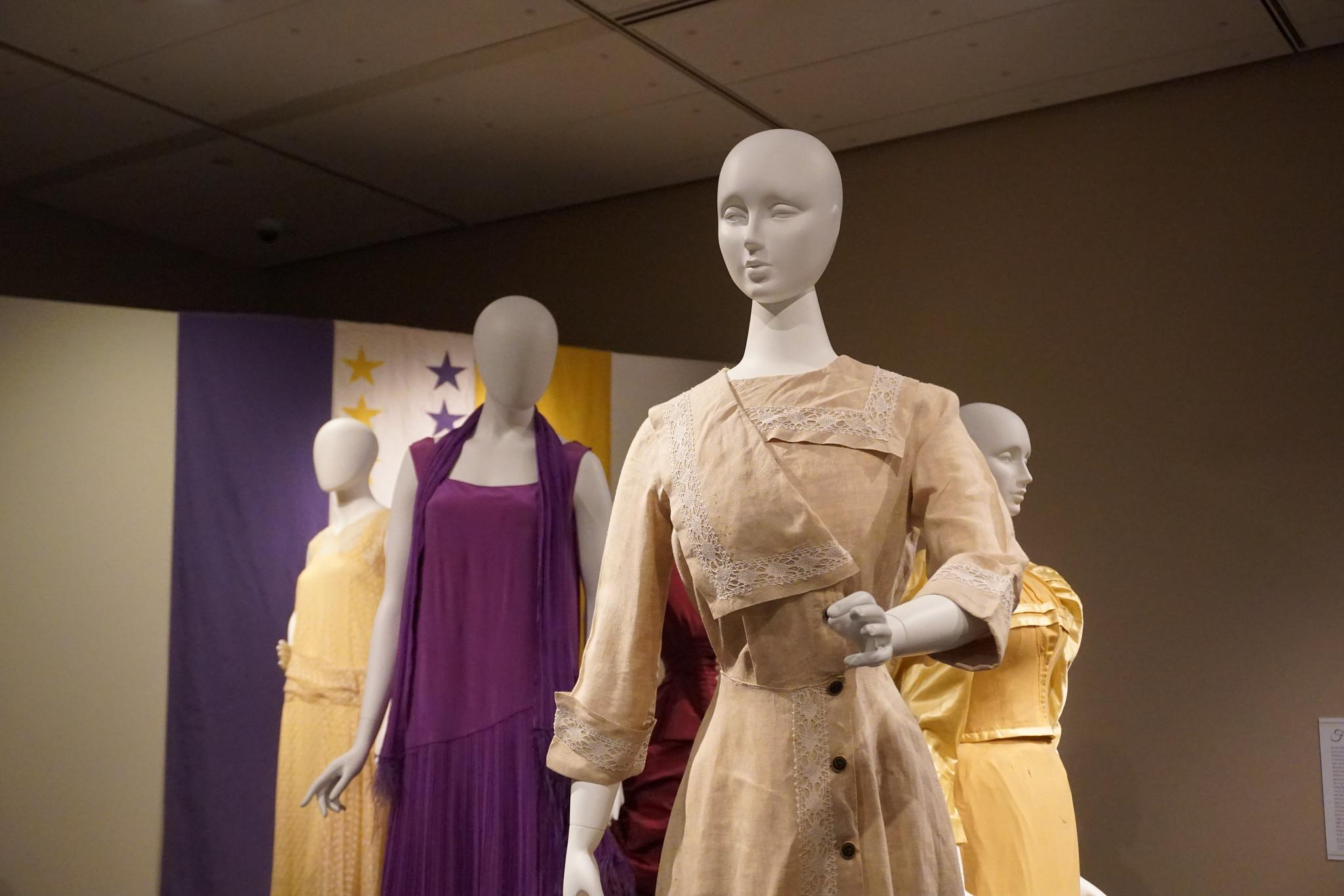 The R.E.S.P.E.C.T. the Dress: Clothing and Activism in U.S. Women's History exhibit at the Avenir Museum of Design