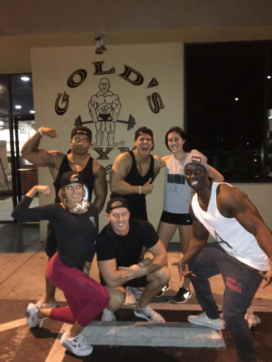 The Local Athletix team at Gold's Gym in LA. Photo courtesy of Local Athletix.