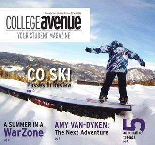 Cover for College Avenue Magazine 2014