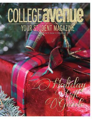 Cover for College Avenue Magazine 2015
