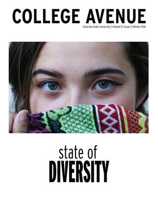 Cover for College Avenue Magazine 2016