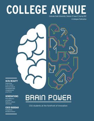 Cover for College Avenue Magazine 2017