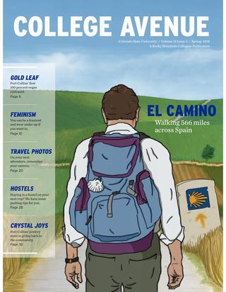 Cover for College Avenue Magazine 2018