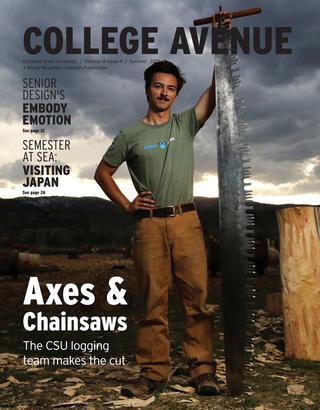 Cover for College Avenue Magazine 2019