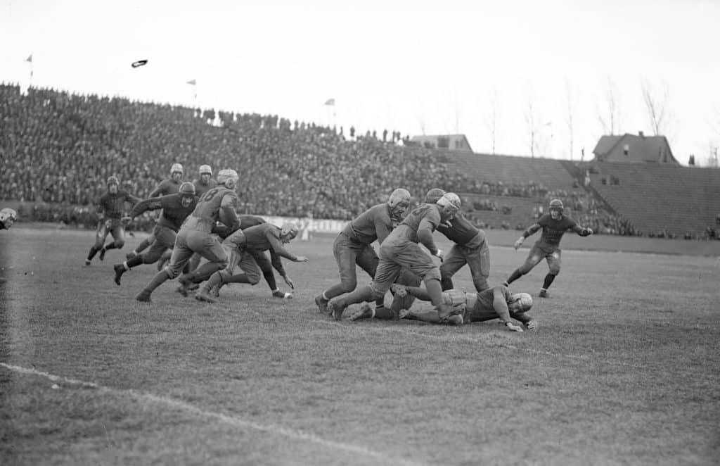 Colorado State University football plays against University of Colorado at Folsom Field Boulder in archival image