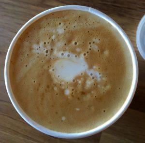 top view of coffee foam