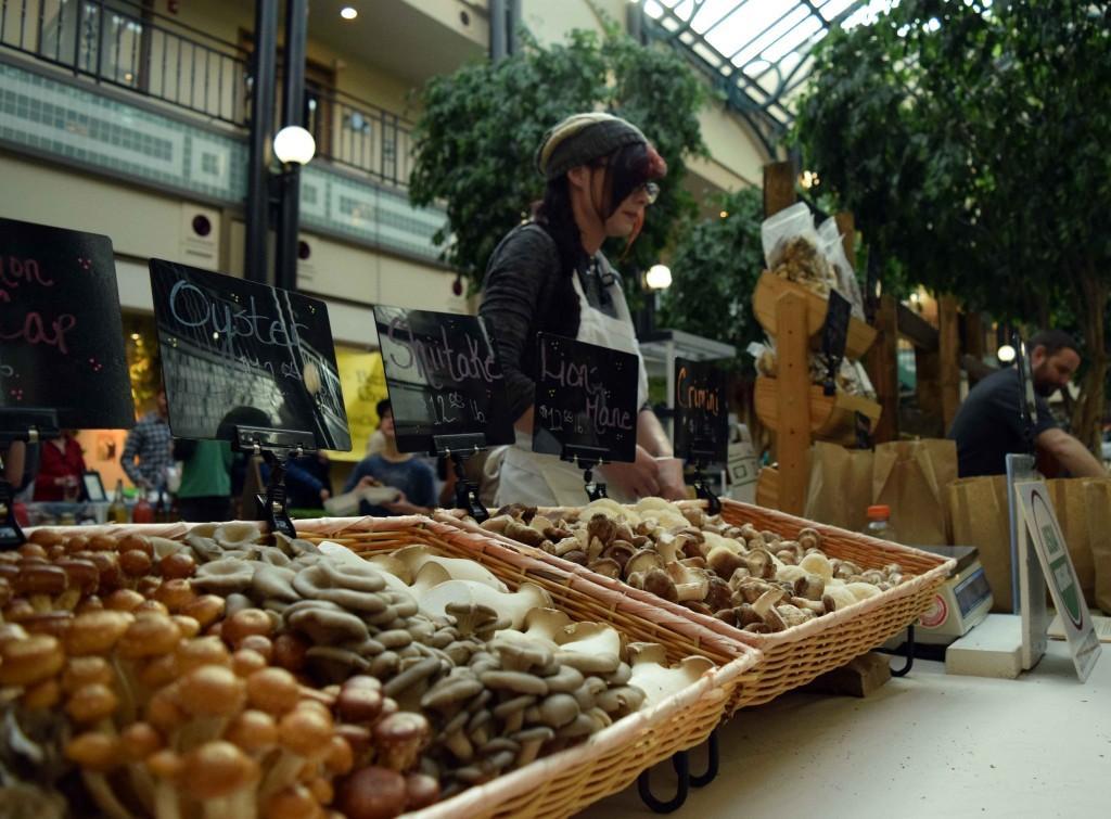 Hazel Dell Mushrooms display