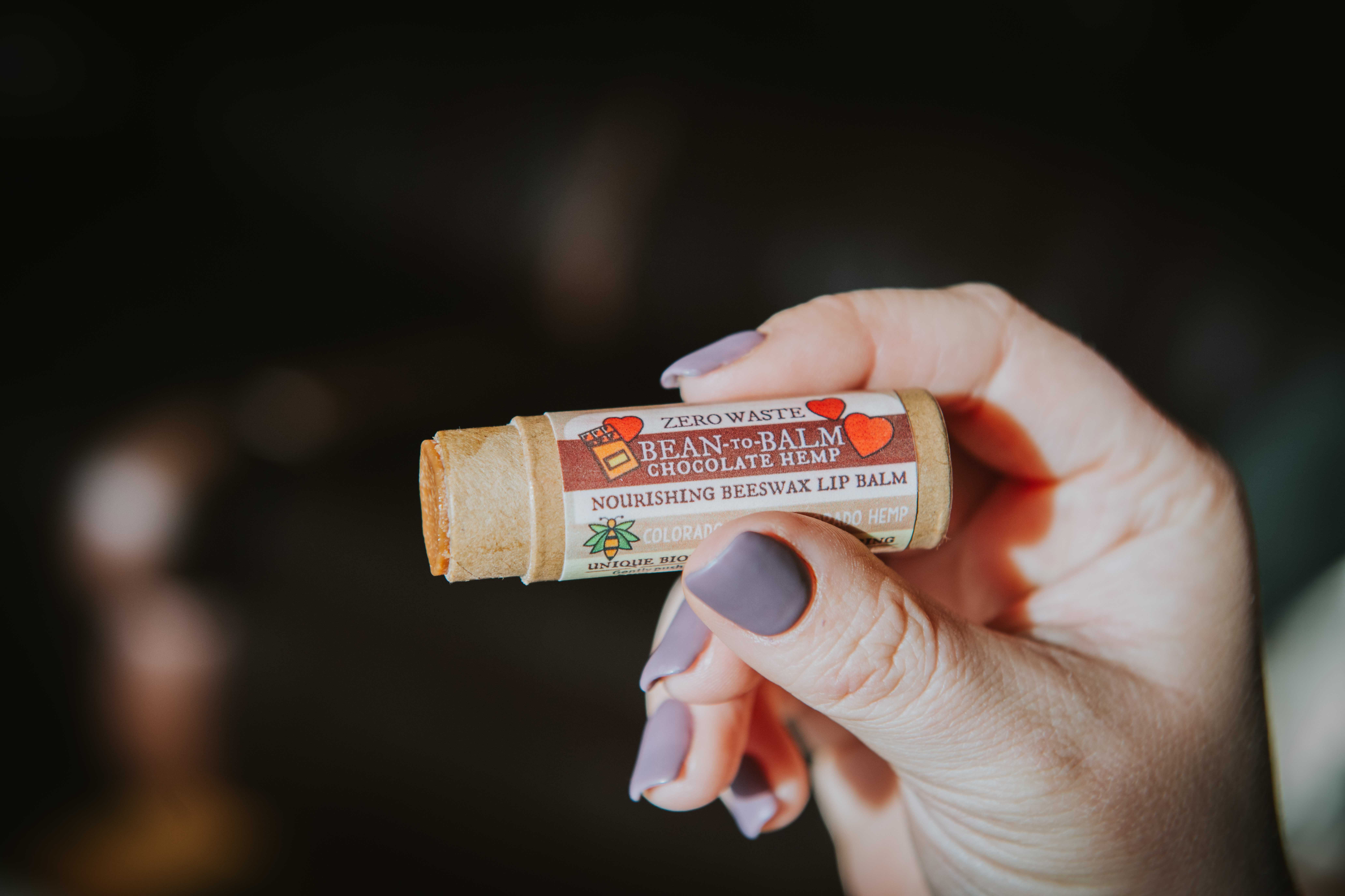 Zero waste lip balm from Sunlit Mountain