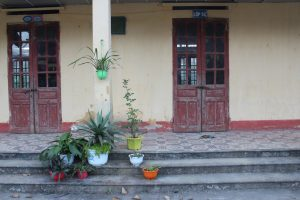 The front steps of a classroom in Sin Chai village